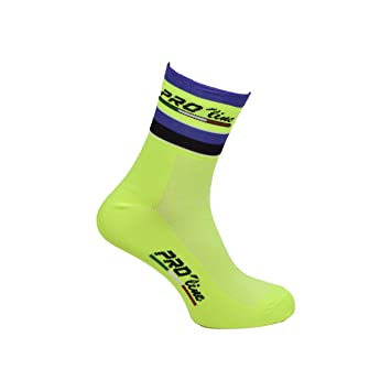 Calcetines ciclismo Proline verde blanco Cycling Socks 1par One Size zXlROO1