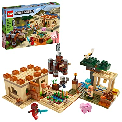 LEGO Minecraft The Villager Raid 21160 Building Toy Action Playset for Boys and Girls Who Love Minecraft, New 2020 (562 Pieces): Toys & Games