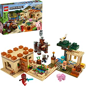 LEGO Minecraft The Villager Raid 21160 Building Toy Action Playset for Boys and Girls Who Love Minecraft, New 2020 (562 Pieces)
