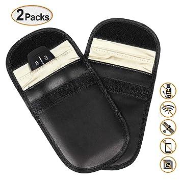 PullPritt 2 x Estuche Bloqueador de Señal de Llave para Coche,Bolsa de Bloqueo de Señal Saludable Teléfono Celular Protección de la Privacidad ...