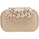 Fawziya Flower Purses With Rhinestones Crystal Evening Clutch Bags