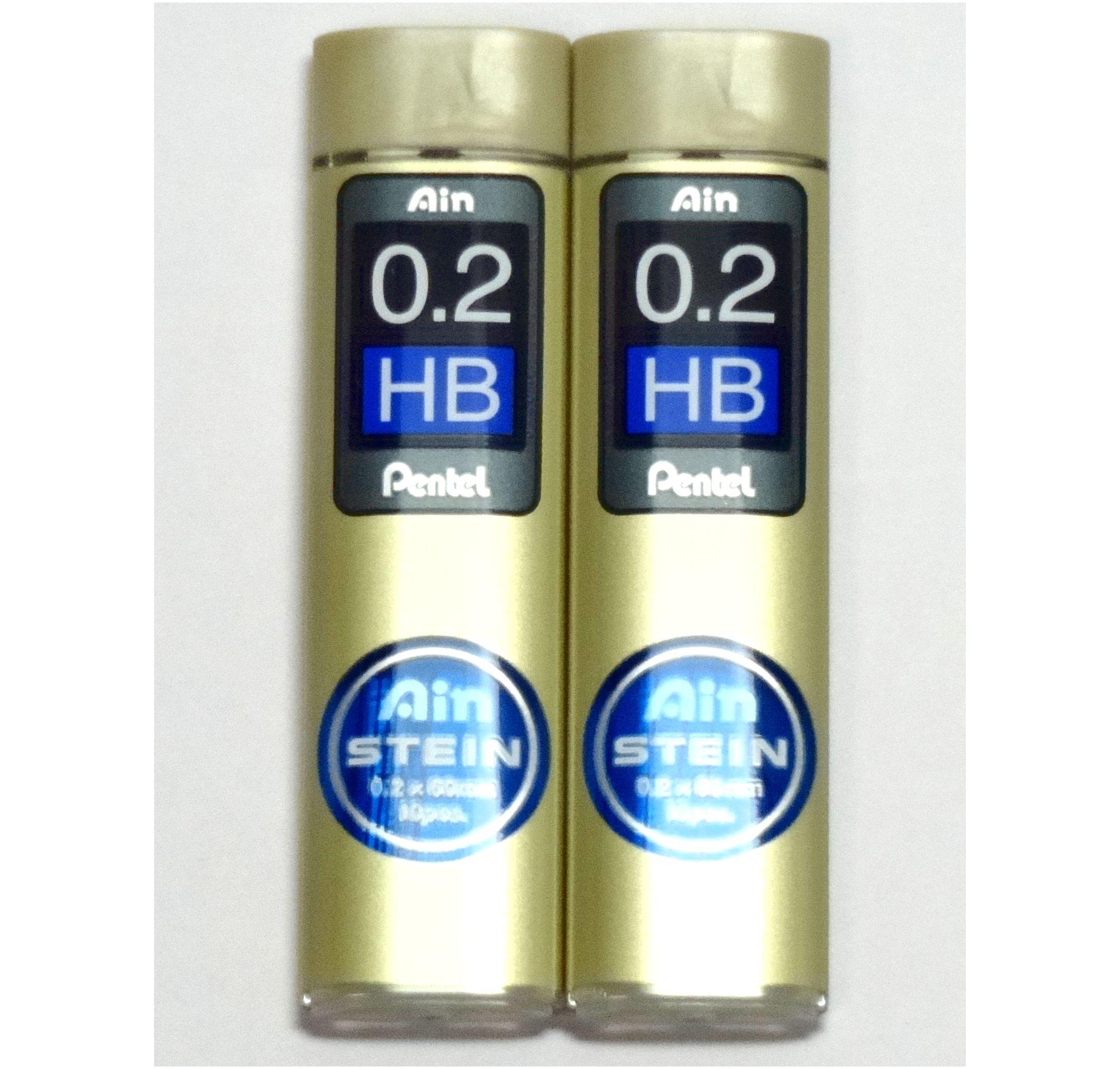 Pentel Ain Stein 20 Minas (2 Tubos) 0.2mm HB