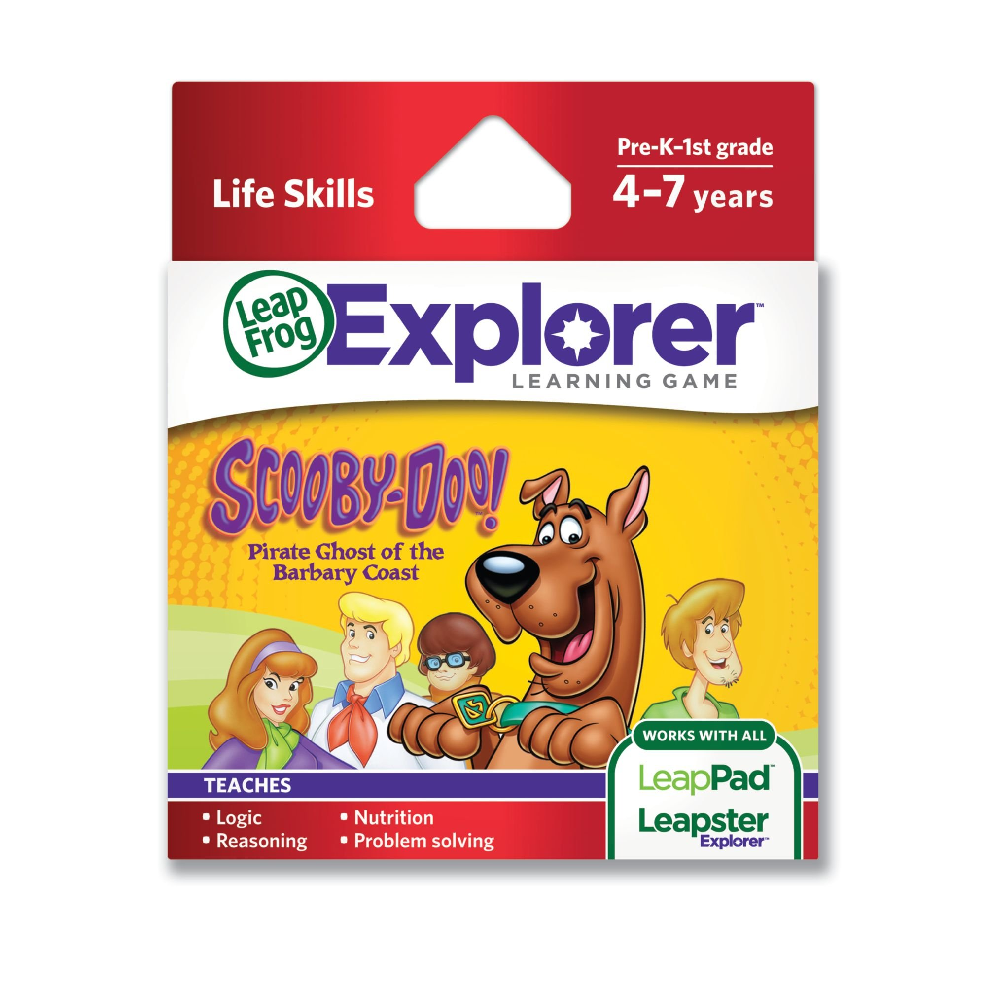 LeapFrog Scooby-Doo! Pirate Ghost of the Barbary Coast Learning Game (works with LeapPad Tablets, LeapsterGS and Leapster Explorer) by LeapFrog