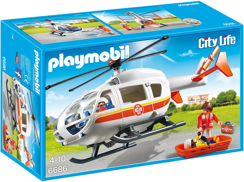 Playmobil Krankenhaus Zubehör - Playmobil Rettungshubschrauber - Playmobil Rettungshelikopter - Playmobil 6686