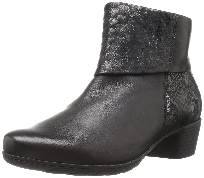 Mephisto Women's Iris Ankle Bootie B06XKJ69K4 9.5 B(M) US|Black Silk/Queen