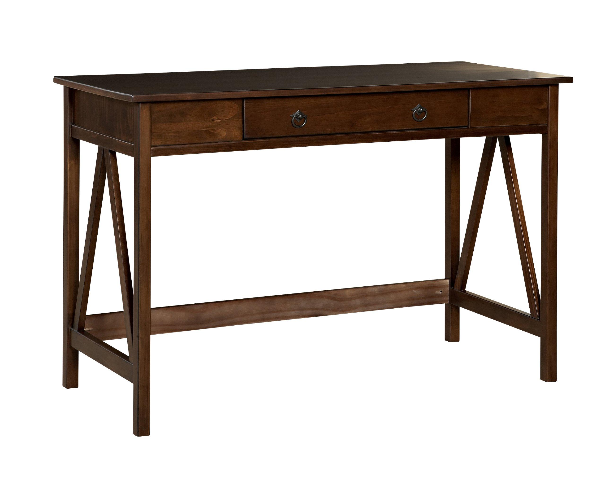 Linon Home Dcor 86154ATOB-01-KD-U Linon Home Decor Antique Tobacco Titian, 45.98'' x 20'' x 30'' Desk, by Linon Home Dcor