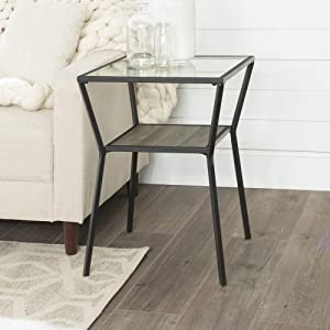 Walker Edison Furniture AZF18KAYSTSG Side Table, Slate Grey