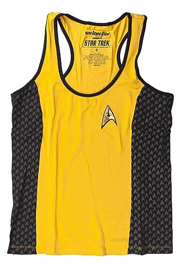 Mighty Fine Star Trek Starfleet Yoga Gold Tank Top Shirt