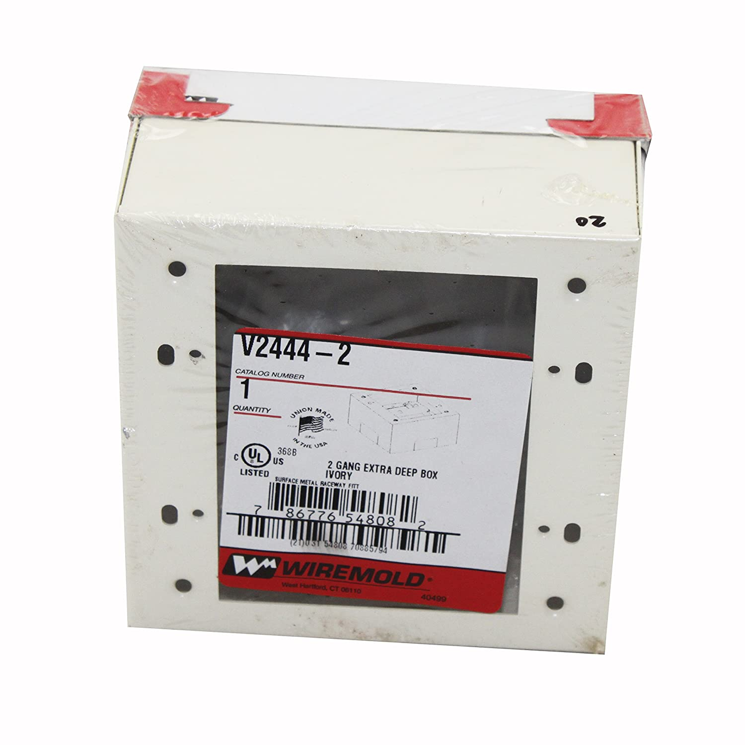 Wiremold Legrand V2444-2 Steel 2-Gang Extra Deep Device Switch Box ...
