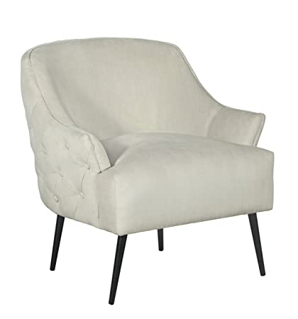 Amazon.com: Elle Decor UPH10032A Quincy Accent Chair, Cream ...