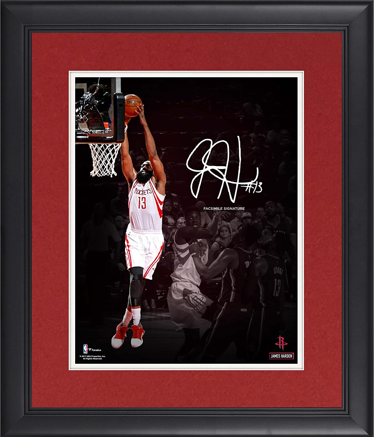 "James Harden Houston Rockets Framed 11"" x 14"" Spotlight Photograph - Facsimile Signature - NBA Player Plaques and Collages at Amazon's Sports Collectibles Store"