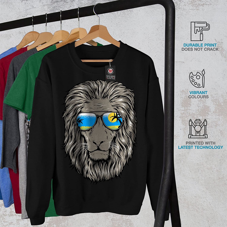 Cool Casual Jumper wellcoda Lion Beach Sun Mens Sweatshirt