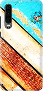 Stylizedd Huawei P30, Slim Snap Basic Case Cover Matte Finish - Wooden Pier