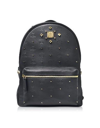 55f2b77da1f77 MCM Designer Handbags Stark Odeon Black Medium Backpack: Amazon.co.uk:  Shoes & Bags