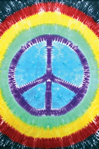 Rainbow Tie-Dye Peace Sign Tapestry Dorm Wall Hanging 60×90