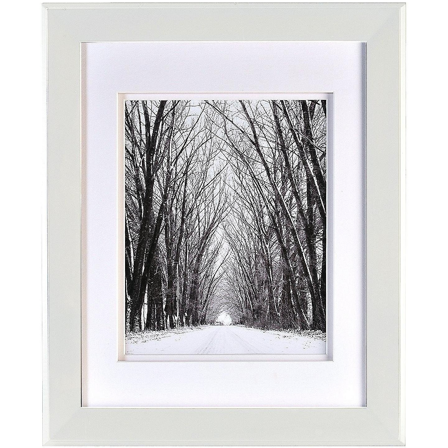 Chelsea White Wood 16x20/11x14 DBL-Matted Frame from ARTCARE by Nielsen - 11x14 by Nielsen Bainbridge (Image #1)