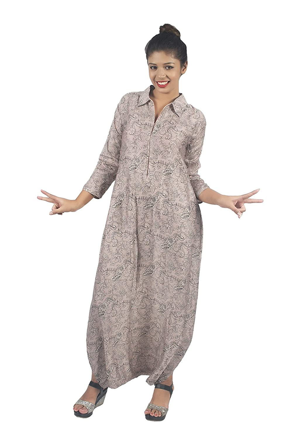 0e38c719241 Indo Western Dhoti Cotton Silk Baby Pink Print Jumpsuit  Amazon.in   Clothing   Accessories