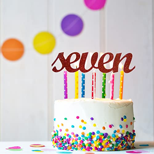 Amazon Seven Cake Topper 7th Birthday Seventh