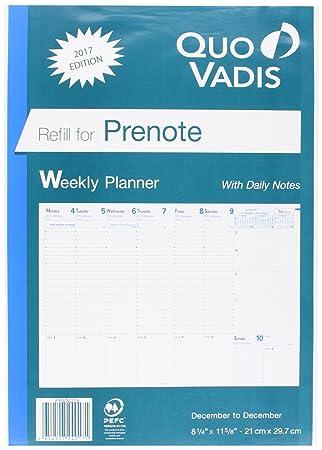 amazon com quo vadis prenote 2017 planner refill appointment
