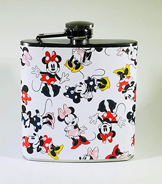 MINNIE MOUSE DISNEY DISNEYLAND CARTOON GIFT GIFTS  PARTY BAR HIP FLASK FLASKS