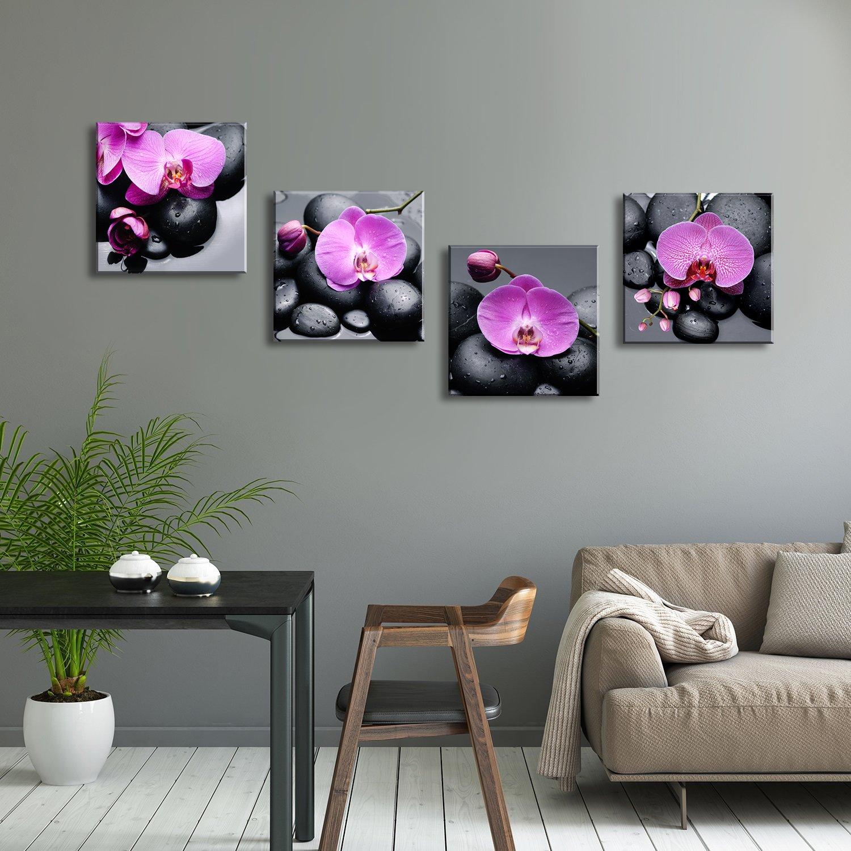 prints 4 metal purple flower painted 16 mm