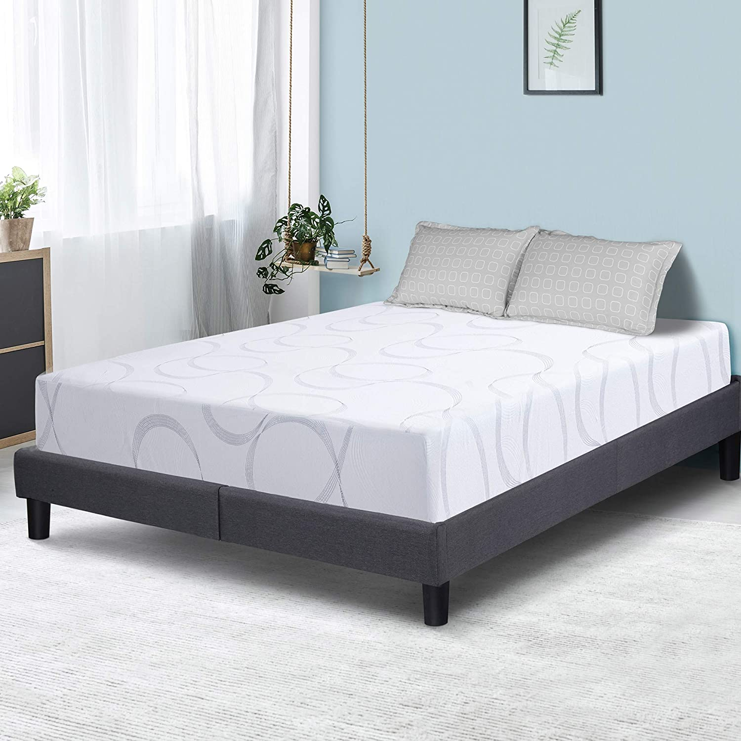 PrimaSleep 9 inch Aurora Multi-Layered I-Gel Infused Memory Foam Mattress, King