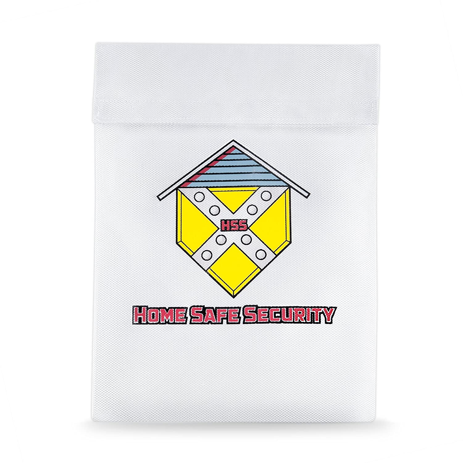 Home Safe Security Fireproof Bag (15x11). Large Fire Resistant Envelope Pouch for Important Documents HSS-1