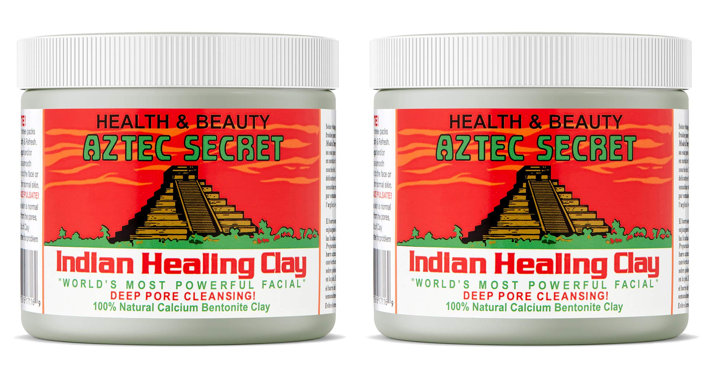 Aztec Secret Indian Healing Clay 1 Pound (Pack of 2) by Aztec Secret