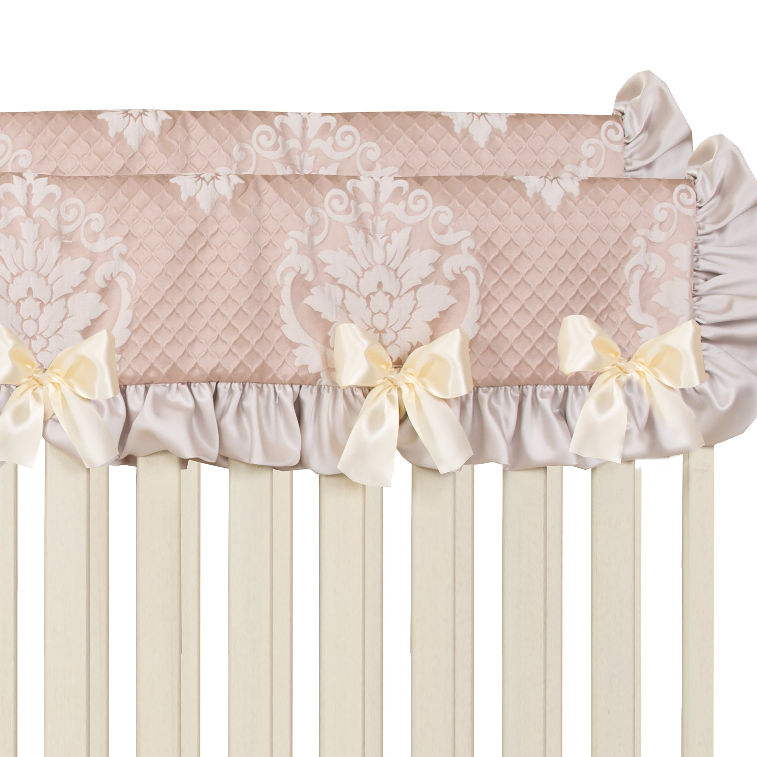 Glenna Jean 2 Piece Angelica Convertible Crib Rail Protector, Pink, Short, one Size by Glenna Jean