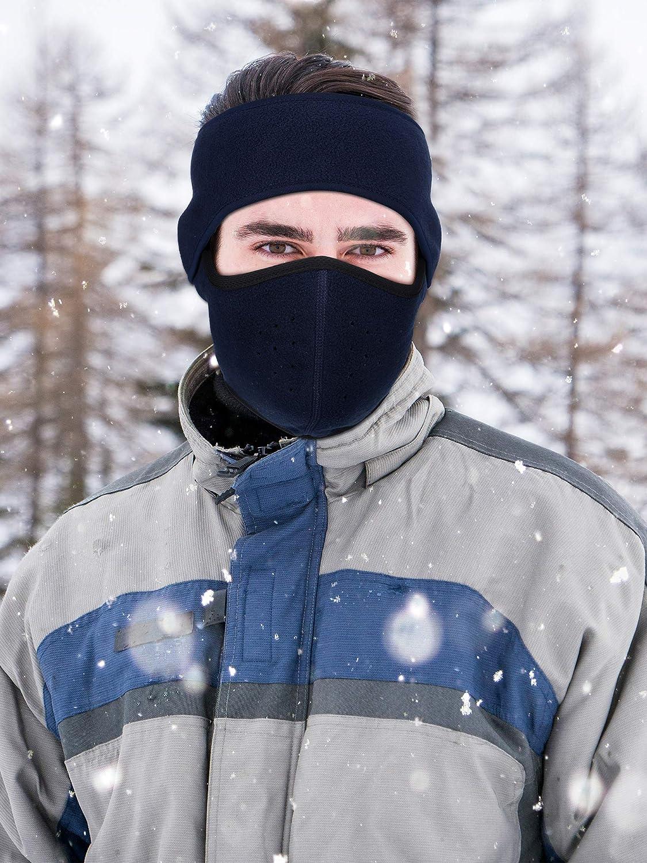 3 Sets Winter Balaclava Face Mask Half Face Mouth Masks with Ear Warmer Headband