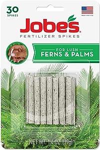 Jobe's Fern & Palm Indoor Fertilizer Food Spikes - 2 Packs of 30-Pack 5101