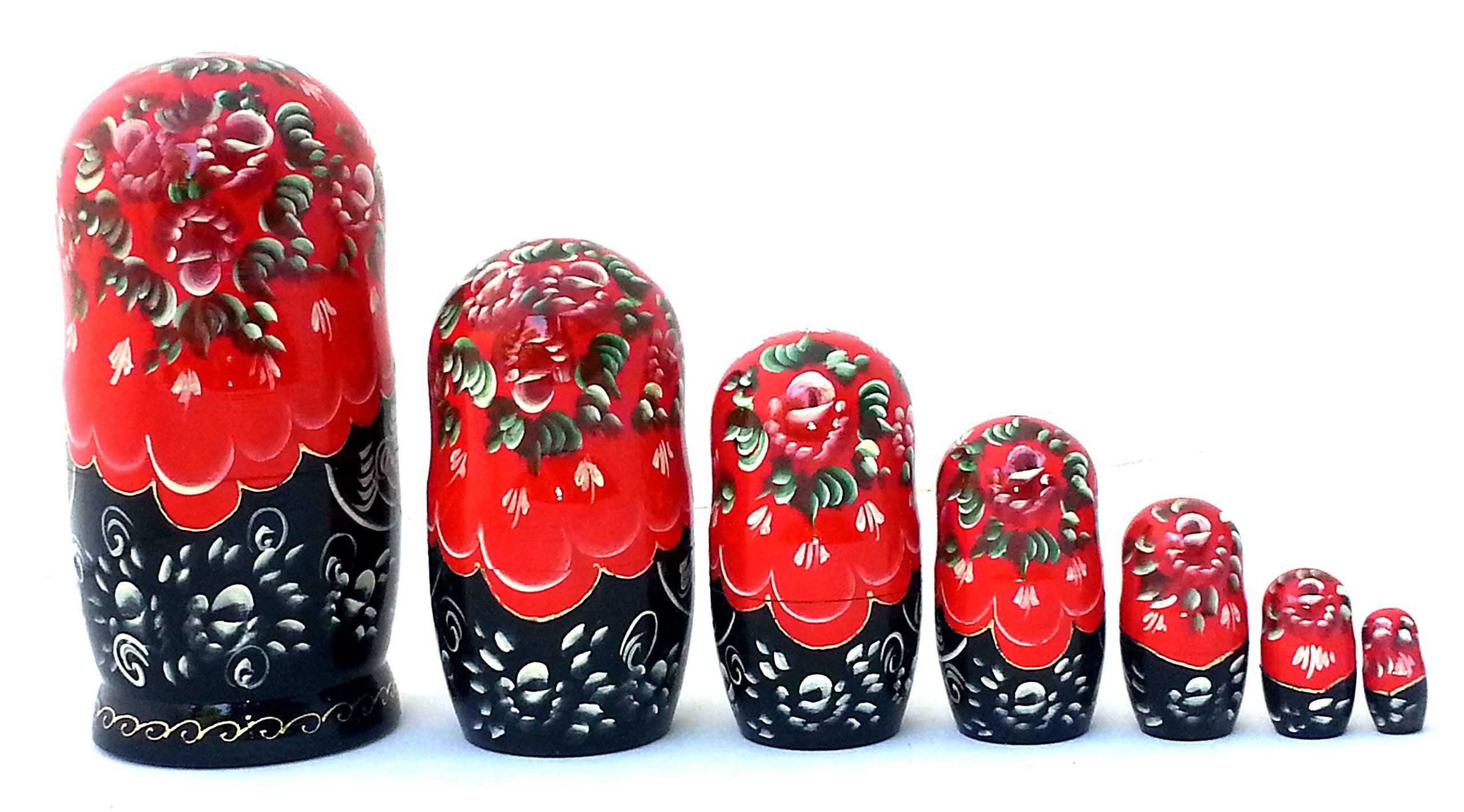 Nutcracker fairy tale Russian Hand Carved Hand Painted Nesting 7 piece DOLL Set 7'' tall / ballet by BuyRussianGifts (Image #4)