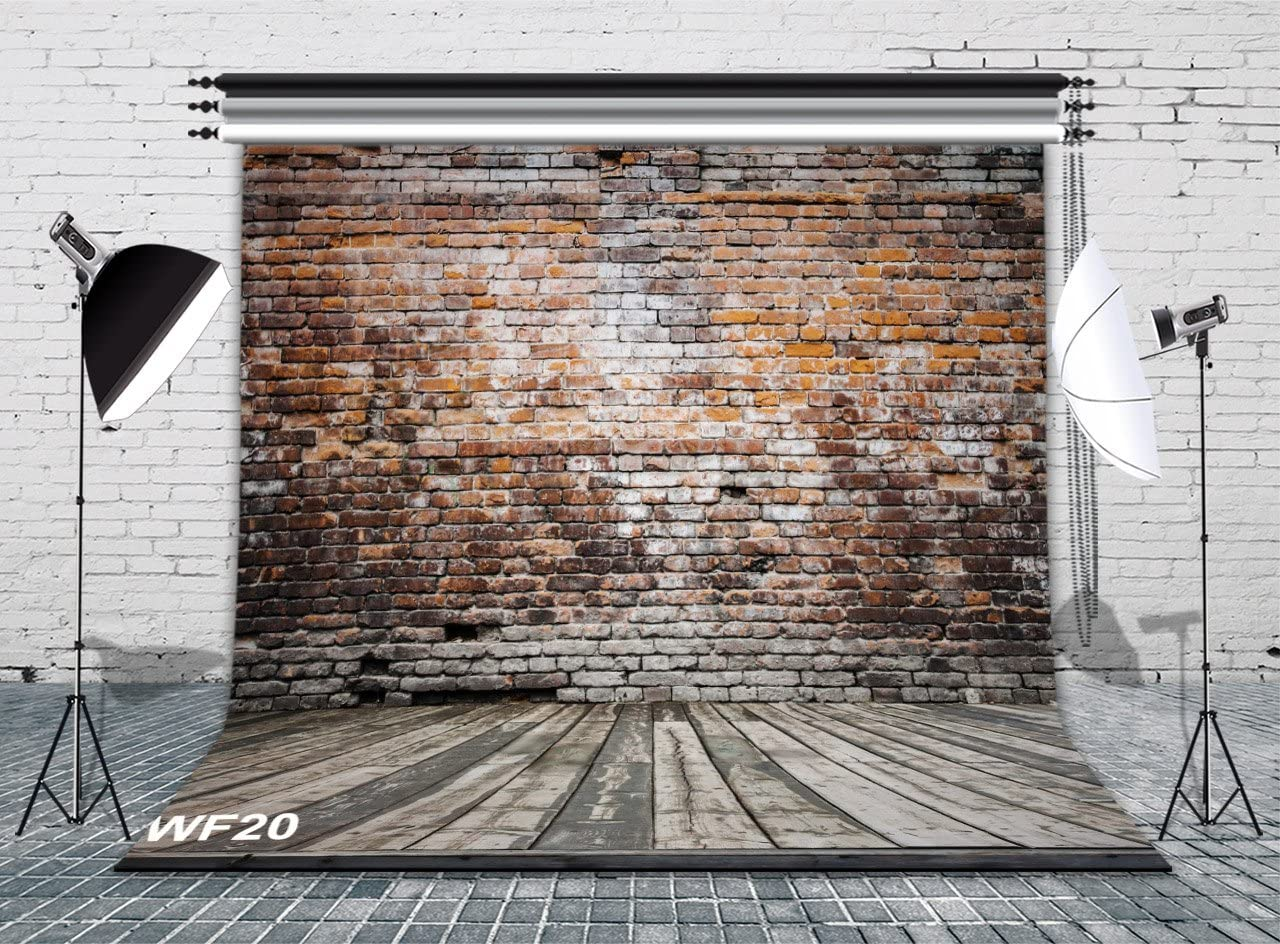 GoHeBe 10x10ft Brick Wall and Basketball Frame Vinyl Photography Backdrop Customized Photo Background Studio Prop 10498