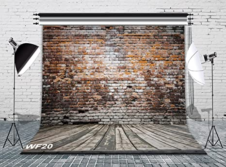 amazon com lb vintage brick wall photo backdrops 8x8ft poly fabric