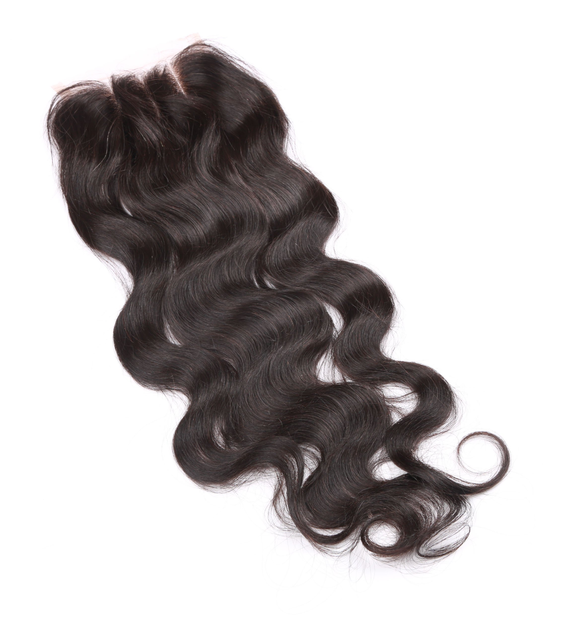 Fennell 3 Part Closure Body Wave Virgin Brazilian Hair 130% Density Lace Closure Natural Hair Color Soft and Silky(8''-20'') (8 inches) by Fennell (Image #6)