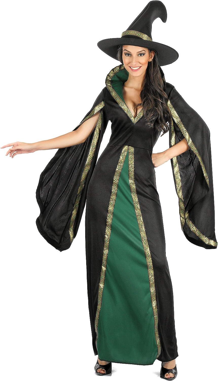 Generique - Disfraz hechicera Negra Terciopelo Mujer M: Amazon.es ...