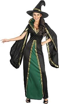Generique - Disfraz hechicera Negra Terciopelo Mujer M: Amazon ...