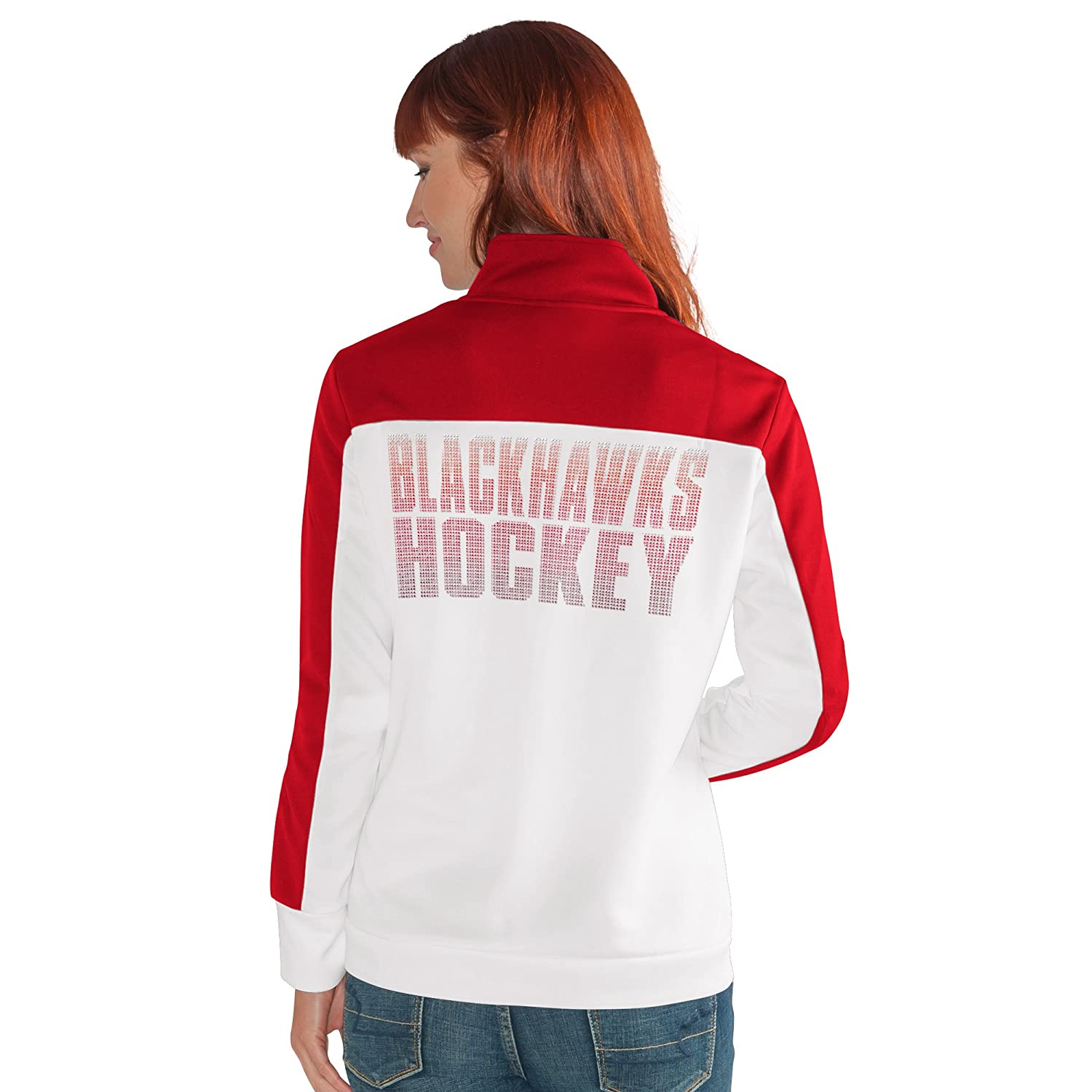 Large White G-III Womens Play Maker Track Jacket