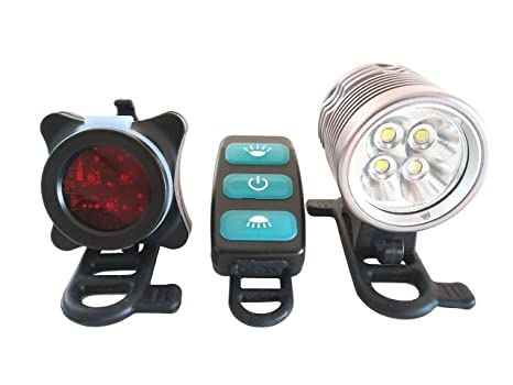 Outdoor led illuminazione bicicletta set lumen casco mtb bike