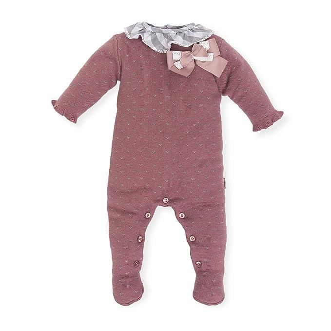 Tutto Piccolo Pelele para Bebé Tricot de Punto Manga Larga Niño Niña Invierno Algodón Tallas 0-24 Meses 5702W18, Color Morado: Amazon.es: Ropa y accesorios