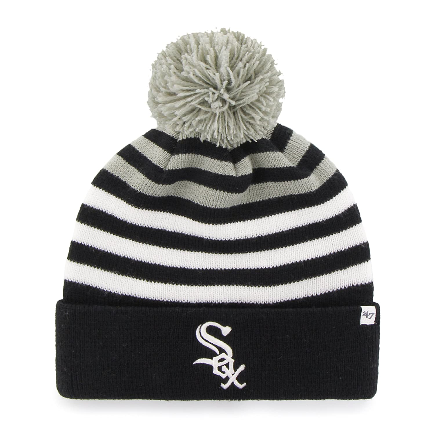 '47 Brand MLB Youth Yipes Cuff Knit with Pom One Size Navy Twins Enterprise/47 Brand