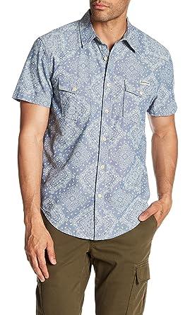 be901ac59b Lucky Brand Mens Bandana Print Western Shirt