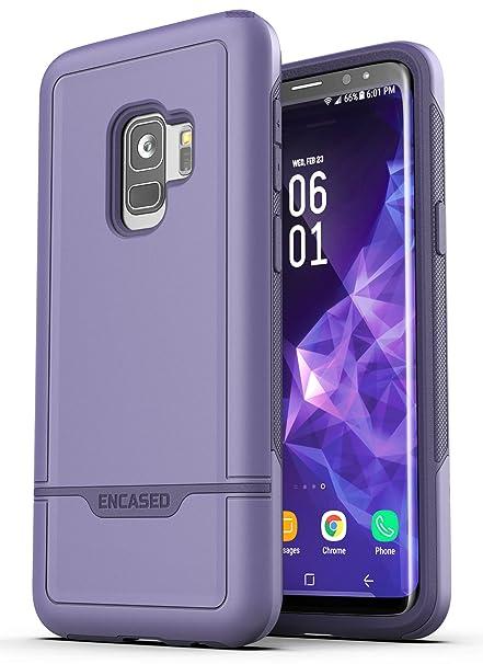 brand new dc9ff ec87b Encased Galaxy S9 Tough Case Purple, Ultra Durable Full Body Protective  Cover (Heavy Duty Military Grade) Samsung S9 Phone (Rebel Series)
