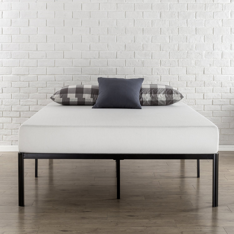Amazon.com: Zinus Van 16 Inch Metal Platform Bed Frame With Steel Slat  Support / Mattress Foundation, Queen: Kitchen U0026 Dining