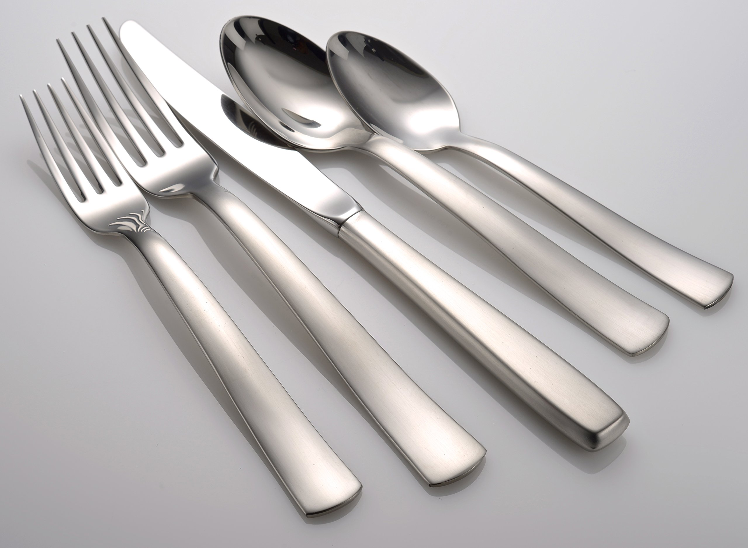 Satin America 20 Piece Set Flatware 18/10 Made in USA by Liberty Tabletop