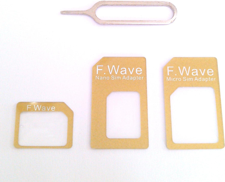 F.Wave『nano SIM変換アダプター4点セット』
