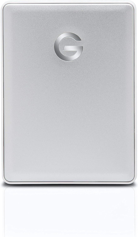G-Technology 2TB G-DRIVE mobile USB 3.0 Portable External Hard Drive, Silver - 0G06072-1