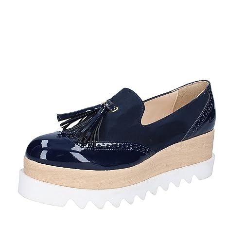 OLGA RUBINI Mocasines Para Mujer Azul Turquesa Azul Size: 41 EU: Amazon.es: Zapatos y complementos