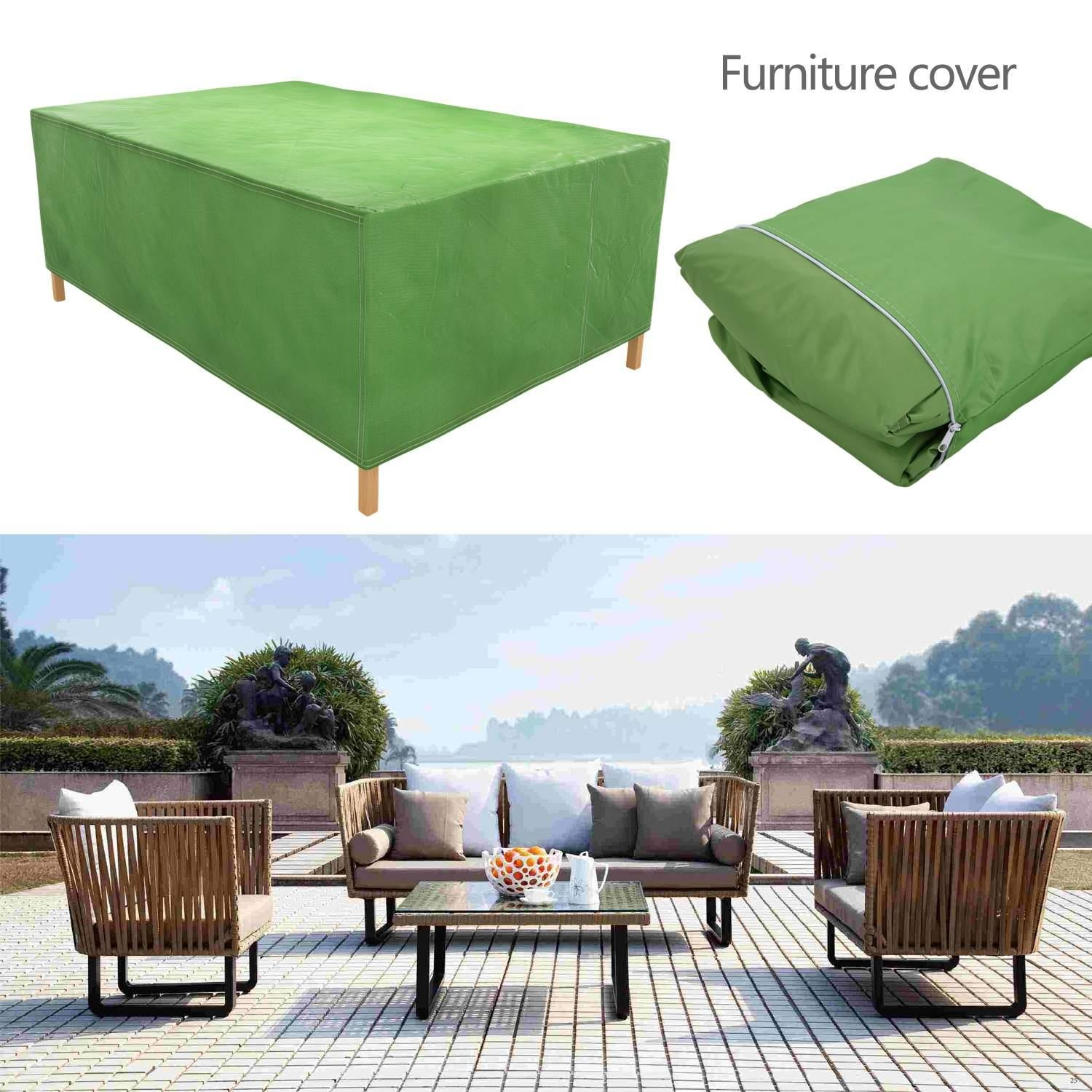 Cosway Furniture Set Covers, 106.3 x 70.9 x 35.0inch Patio Furniture Cover Water Resistant Durable Outdoor Table and Chair Cover Rectangle (Green)