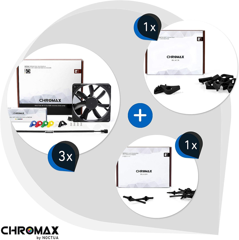Noctua Chromax Bundle Schwarz 3x Nf S12a Pwm Computer Zubehör